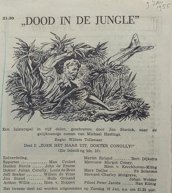 Deel 1. Aankondiging: Dood in de jungle