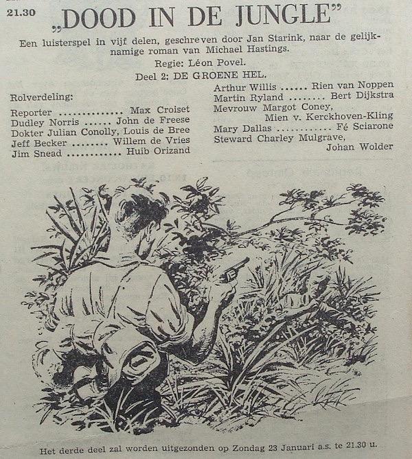 Deel 2. Aankondiging: Dood in de jungle