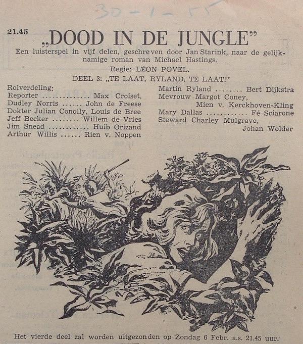 Deel 3. Aankondiging: Dood in de jungle