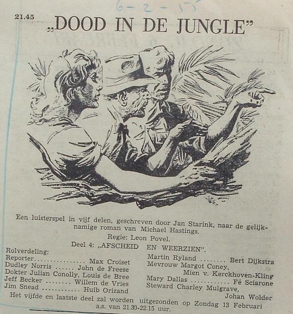Deel 4. Aankondiging: Dood in de jungle