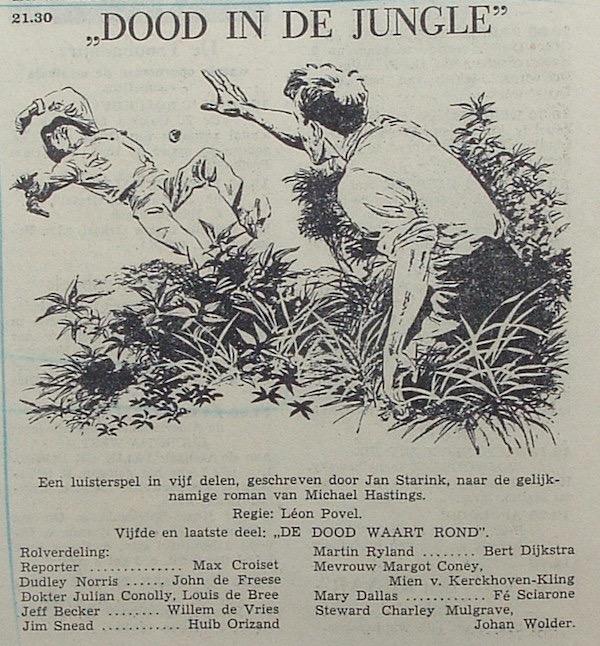 Deel 5. Aankondiging: Dood in de jungle