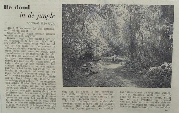 Artikel: Dood in de jungle