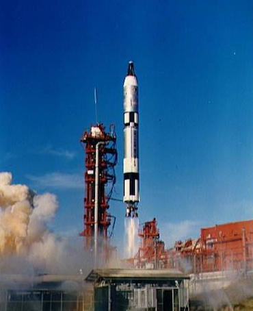 Lancering van de Gemini 12.