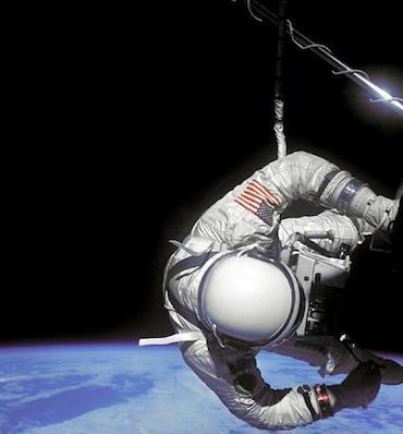 Een van de succesvolle ruimtewandelingen.