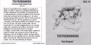 Testbemanning cd-hoesje deel 24