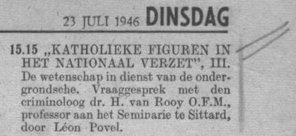 Datum uitzending: dinsdag 23-07-1946.