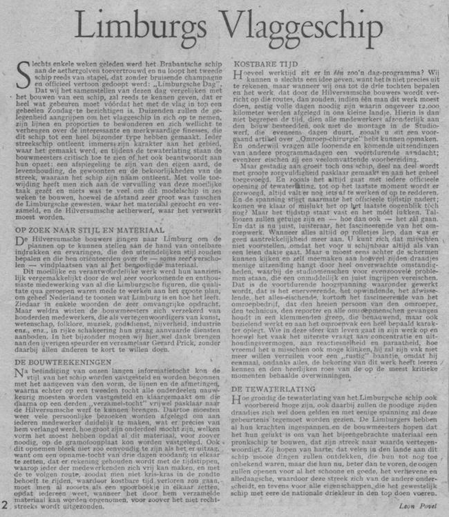 Artikel van Léon Povel over de uitzending.