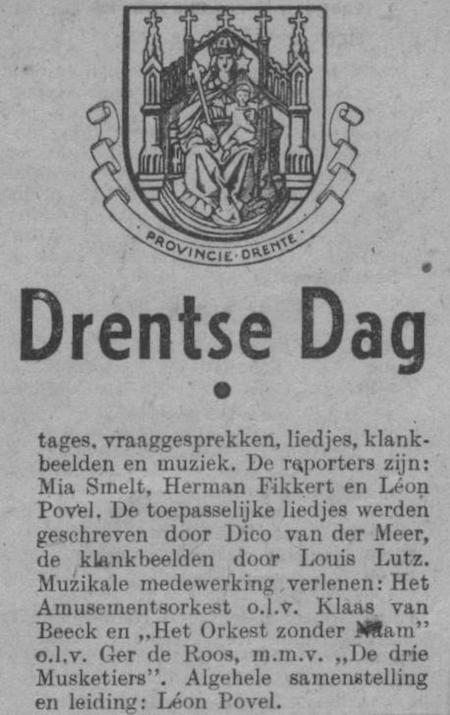 Datum uitzending: zondag 29-06-1947.