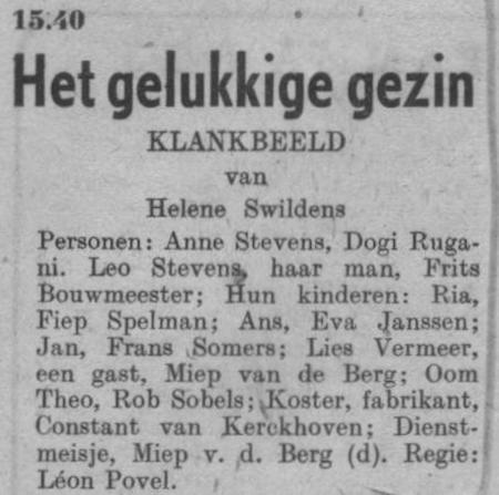 Datum uitzending: zondag 19-10-1947.