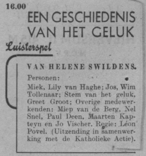 Datum uitzending: zondag 22-06-1947.