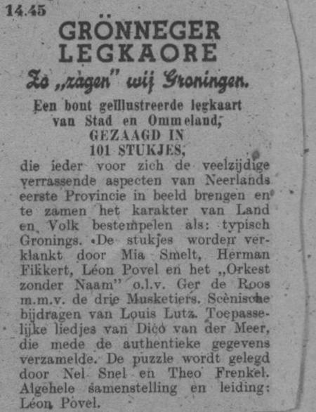 Datum uitzending: zondag 11-05-1947.