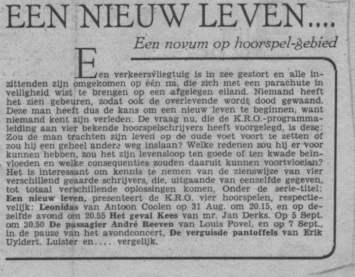 Info (radiogids van 06-09-1947).
