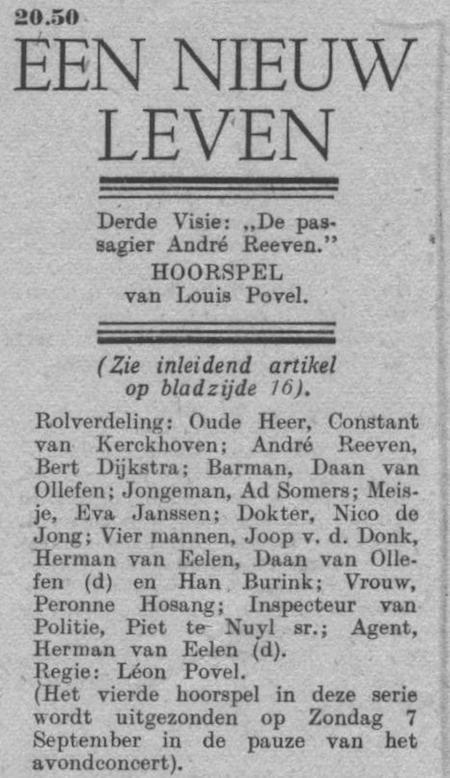 Datum uitzending: vrijdag 05-09-1947.