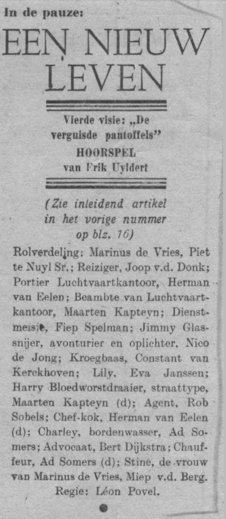 Datum uitzending: zondag 07-09-1947.