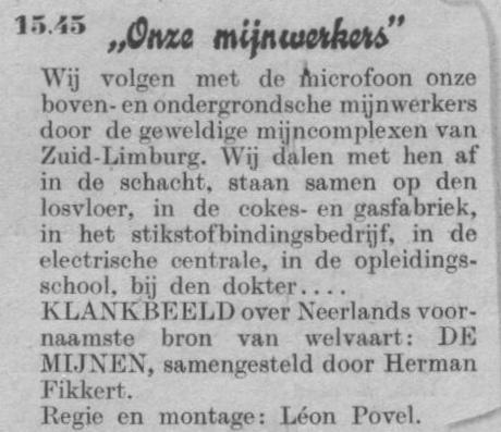 Datum uitzending: zondag 23-03-1947.