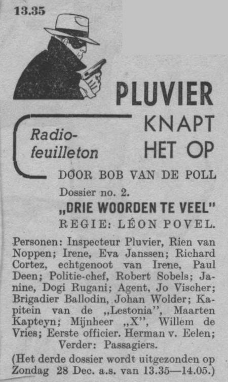 Datum uitzending: zondag 14-12-1947.