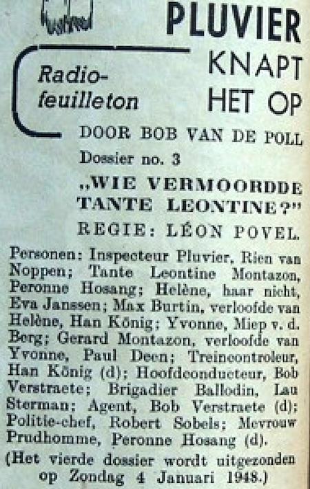 Datum uitzending: zondag 28-12-1947.