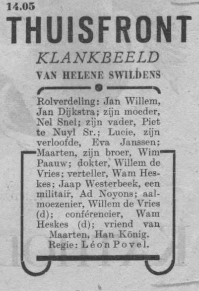 Datum uitzending: zondag 17-08-1947.