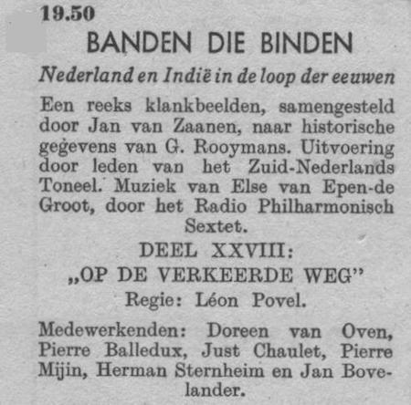 Datum uitzending: deel 28 zaterdag 07-02-1948.