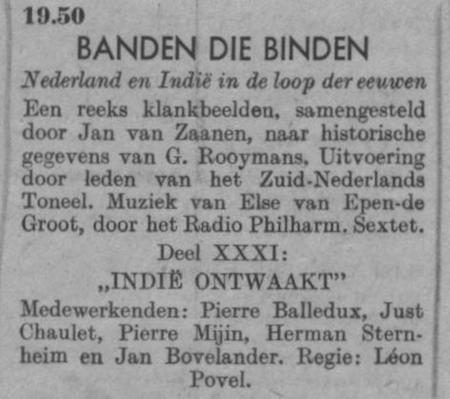 Datum uitzending: deel 31 zaterdag 28-02-1948.