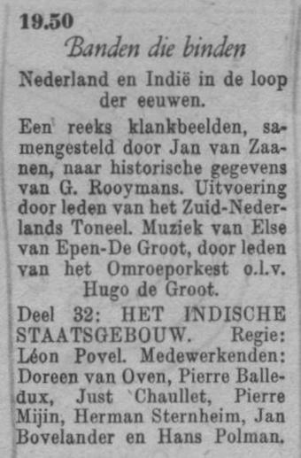 Datum uitzending: deel 32 zaterdag 06-03-1948.