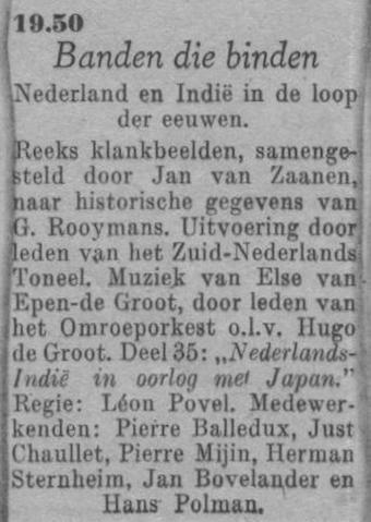 Datum uitzending: deel 35 zaterdag 27-03-1948.