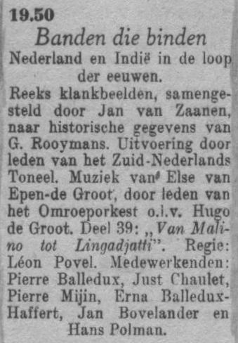 Datum uitzending: deel 39 zaterdag 24-04-1948.