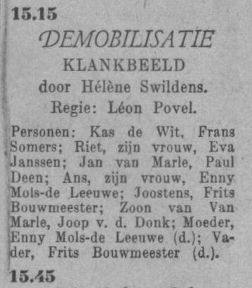 Datum uitzending: zondag 07-03-1948.