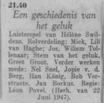 Datum uitzending: zondag 22-08-1948.
