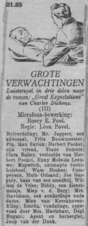 Datum uitzending: zondag 18-07-1948.