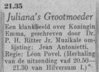 Datum uitzending: vrijdag 30 april 1948