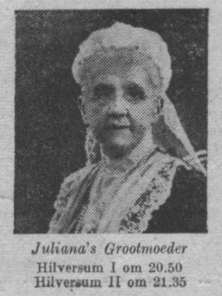 De koningin-moeder Emma.