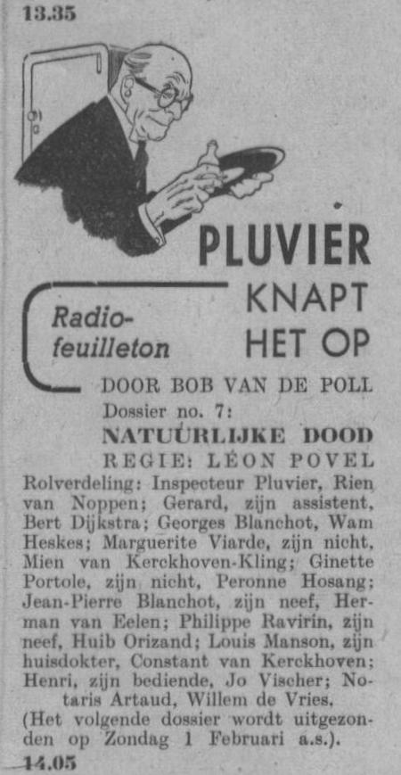 Datum uitzending: zondag 25-01-1948.