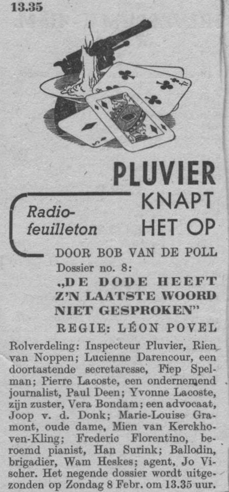 Datum uitzending: zondag 01-02-1948.
