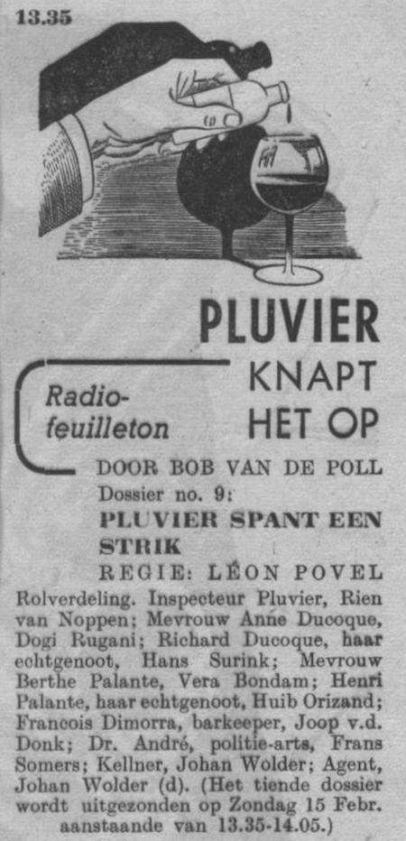 Datum uitzending: zondag 08-02-1948.