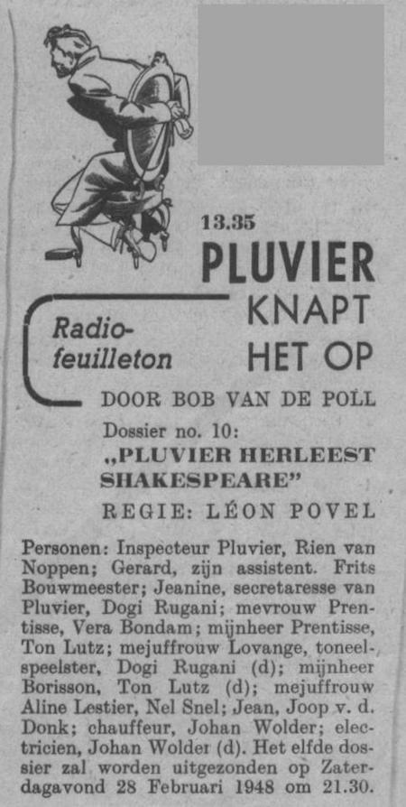 Datum uitzending: zondag 15-02-1948.