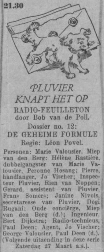 Datum uitzending: zaterdag 13-03-1948.