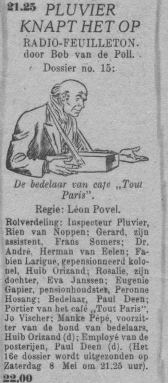 Datum uitzending: zaterdag 24-04-1948.