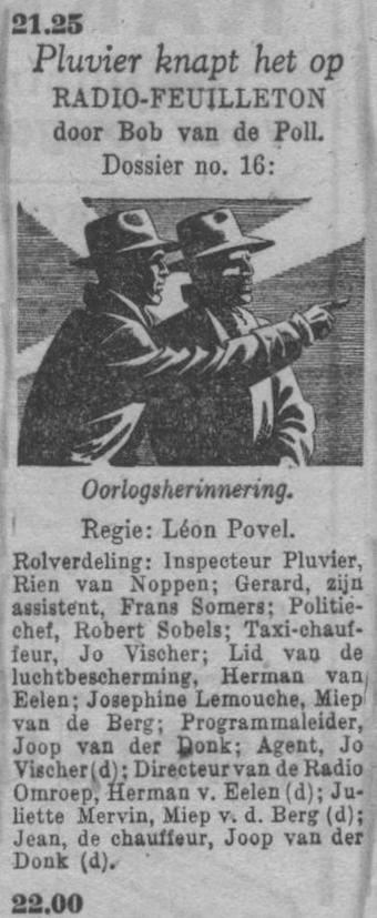 Datum uitzending: zaterdag 22-05-1948.
