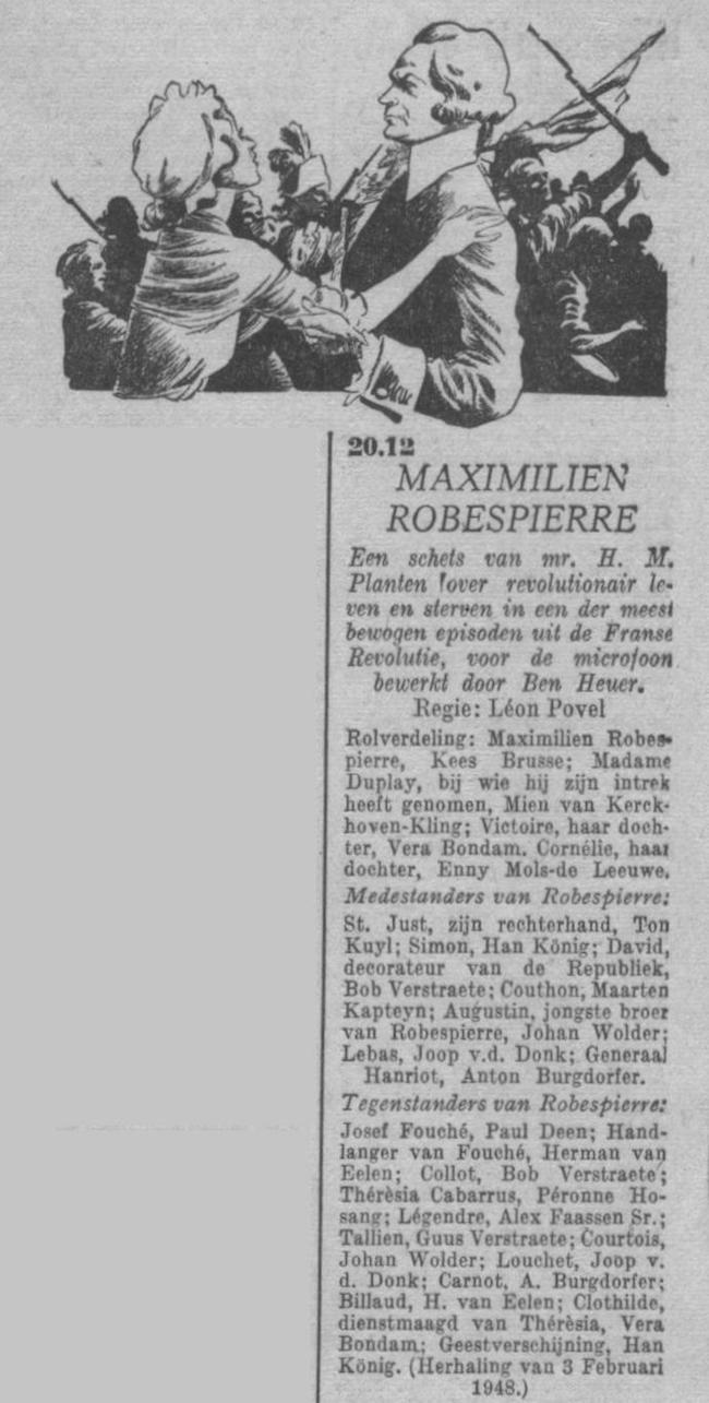 Datum uitzending herhaling op: dinsdag 14-09-1948.