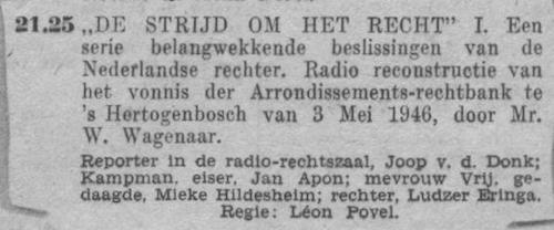 Datum uitzending: zondag 21-11-1948.