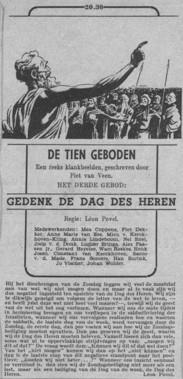 Datum uitzending: vrijdag 12-11-1948.