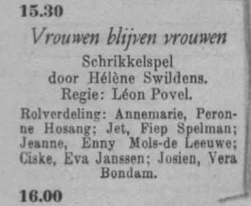 Datum uitzending: zondag 29-02-1948.