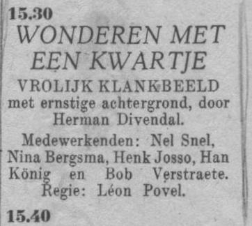 Datum uitzending: zondag 25-04-1948.