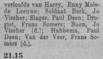 Datum uitzending: zondag 09-05-1948 (moederdag).