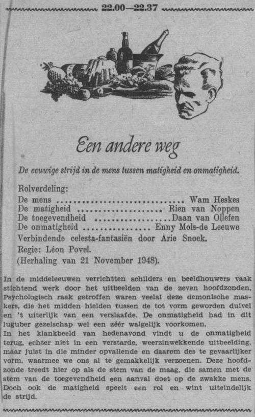 Datum uitzending: zondag 07-08-1949.