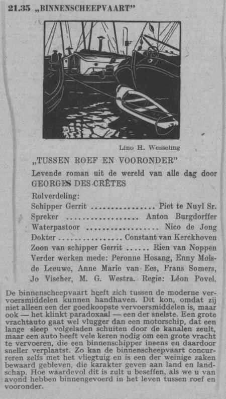 Datum uitzending: zondag 26-06-1949.