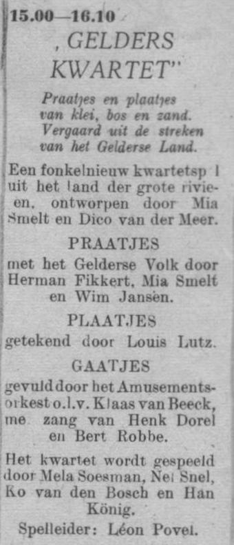 Datum uitzending: zondag 22-05-1949.
