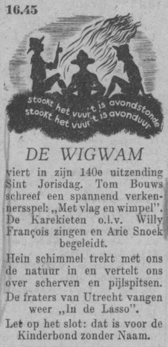 Datum uitzending: zaterdag 23-04-1949.