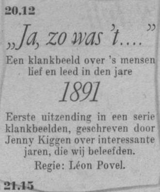 Datum uitzending: vrijdag 08-07-1949.